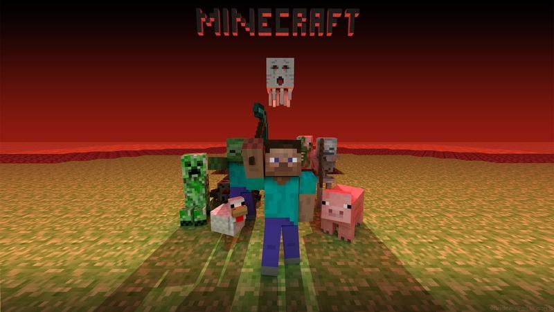Hier ist ein Video für Minecraft wie man. wie lava,wasser,holz,stein und sogar Betten.  Bei Minecraft gibt es viele...